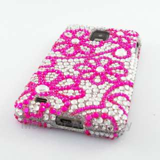 Pink Daisys Bling Hard Case Cover Samsung Infuse 4G