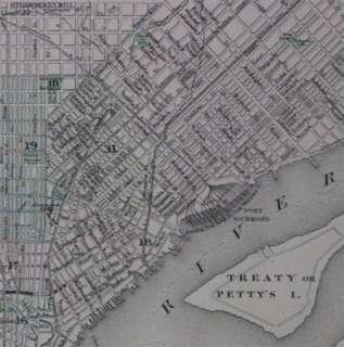 Johnson 1886 Atlas LARGE HC Antique Map Philadelphia PA