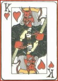 Hard Rock Hotel LAS VEGAS 2004 Devil KING HEARTS PIN Playing Card