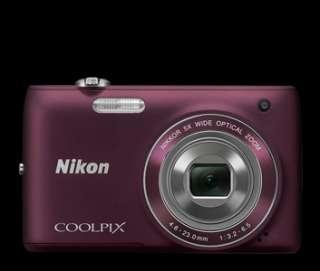 Nikon Coolpix S4100 Digital Camera Bundle (Plum) 4GB Memory Card, Case