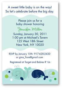 Little Whale Nautical Baby Shower Invitation Printable