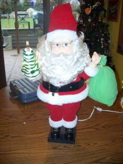 MOTIONETTE ANIMATED CHRISTMAS SANTA CLAUS W BLOW MOLD 8