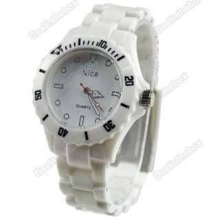 Hotsale Summer Fashion Plastic Wrist Watch Men Women Lady Wristwatch 6