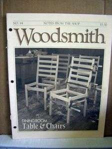 Woodsmith Magazine No. 64 Dining Room Table & Chairs