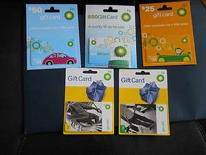 Assorted BP ARCO Gas Gift Cards, COLLECTIBLE, Mint