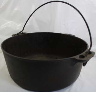 Antique VTG Griswold No 9 Cast Iron Dutch Oven Pot 834 with Wire
