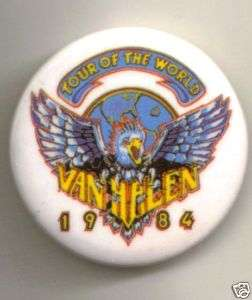 Van Halen 1984 World Tour Eagle Button Pin Alex Eddie