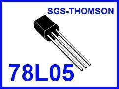 10 pcs. 78L05 POSITIVE VOLTAGE REGULATOR +5 VOLTS 100mA
