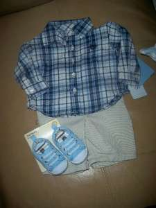 NW CARERS& FIRS MOMENS SPRING 2012 LINE NEWBORN BABY BOY CLOHES