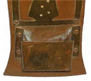 Quality Handmade Craftsman Hammered Copper MATCH HOLDER (Wall Mount