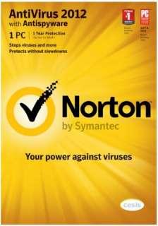 Norton Anti Virus 2012 For Win 7, XP & Vista Brand New Latest Version