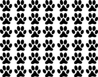 42 1 inch Paw Prints Tracks dog cat Vinyl Decal Wall Art Decor