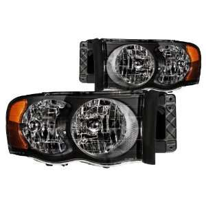 Anzo USA 111022 Dodge Ram Crystal Black Headlight Assembly   (Sold in