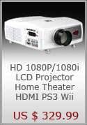 AV LED Home Theater Projector + 3 Cables + Remote Control P810