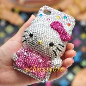Handmade 46 2 3d Bling Swarovski Crystal Hello Kitty Case