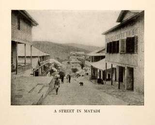 1921 Print Street Scene Cityscape Matadi Congo Africa Port Town