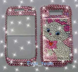 Pink Cute Cat Bling Hard Case Cover for Nokia E72 B28
