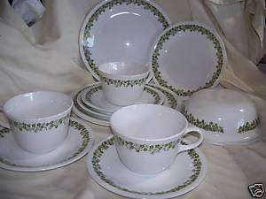 CORELLE SPRING BLOSSOM CRAZY DAISY LUNCHEON PLATES BOWL