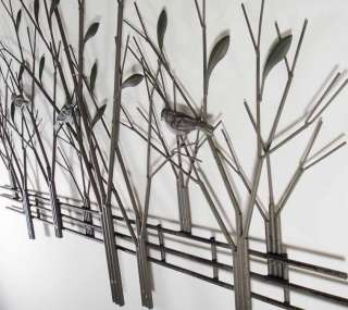 Large Contemporary Metal Wall Art Decor Or Sculpture   Tree Scene With