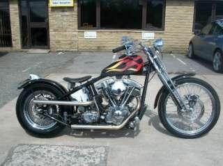 Harley Davidson shovelhead oldskool hardtail bobber