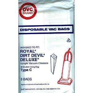 Dirt Devil Generic Upright Type C BAG DVC Brand (3 in a