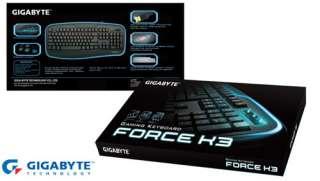 NEW GIGABYTE BLACK FORCE K3 USB WIRED GAMING KEYBOARD 4719331543235
