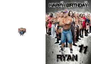 PERSONALISED WWE BIRTHDAY CARD