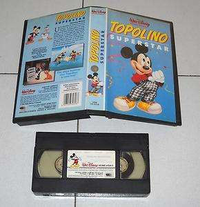 Vhs TOPOLINO SUPERSTAR Walt Disney OTTIMO 1991 Mickey Mouse