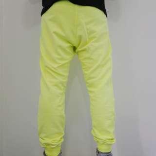 Pantaloni tuta HAPPINESS unisex Tg. L ROCK GIALLO FLUO