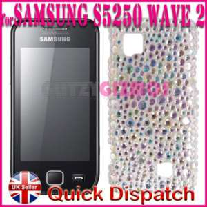 SAMSUNG WAVE II 2 S5250 BLING DIAMOND GEM CASE COVER