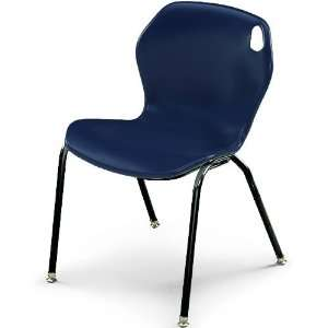 18H Intuit Stacking Chair with Powder Coat Frame   Navy Chair/Black F