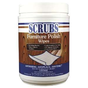 Scrubs Furniture Polish Wipes 6/65Ct: Office Products