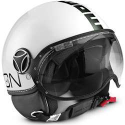 SCOOTER HELMET JET MOMO DESIGN FIGHTER CLASSIC 2012 BIANCO/NER