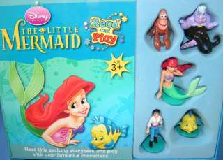 The Little Mermaid Book + Ursula Ariel Prince Eric Sebastian Flounder