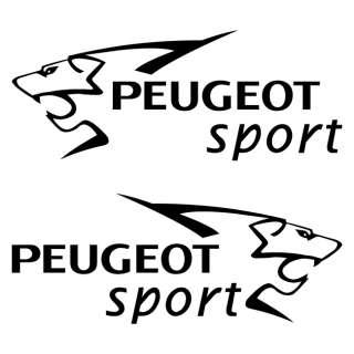 peugeot sport door logo stickers graphics vinyl decals 107 206 207 308. Black Bedroom Furniture Sets. Home Design Ideas