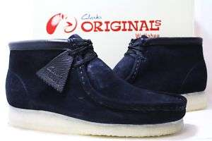 Mens Clarks Wallabee Boot Black Suede!!!!
