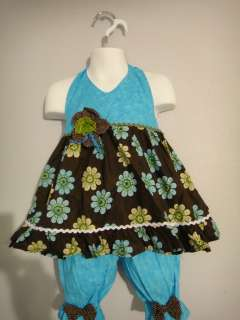 Turquoise and brown pageant casual wear 18months Ooc