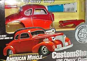 1939 CHEVY COUPE CUSTOM MODEL KIT 1/24 G SCALE SKILL 1