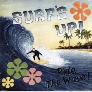 Surfs Up   Poster by David Carter Brown (10x10): Home & Kitchen