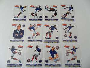 Lot de 12 cartes PITCH team Equipe de France de Foot FFF 2012