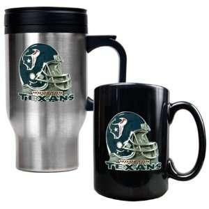 Houston Texans Coffee Cup & Travel Mug Gift Set:  Sports