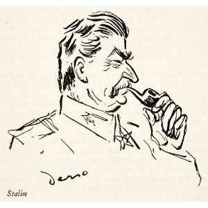 1946 Print Alois Derso Political Cartoon Joseph Stalin
