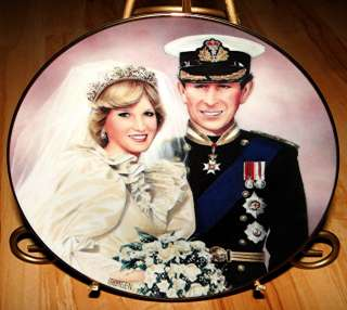 PRINCESS DIANA PLATE COLLECTION Princess Charles Wedding of the