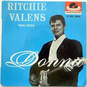 RITCHIE VALENS DONNA / BAMBA TRES RARE ORIG FRENCH EP