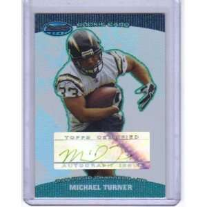 MICHAEL TURNER RC 2004 BOWMANS BEST ROOKIE AUTO /499 in