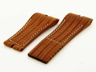 Roger Dubuis 27mm Light Brown Crocodile Band Strap