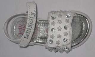 Lelli Kelly 8489 Bucaneve White Beaded Sandals shoe NEW