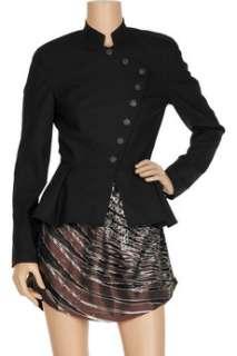 Geren Ford Peplum hem wool blend crepe blazer   65% Off Now at THE