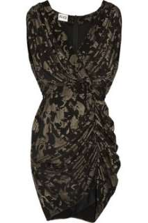 ALICE by Temperley Mini Atlas stretch jersey wrap effect dress   55%