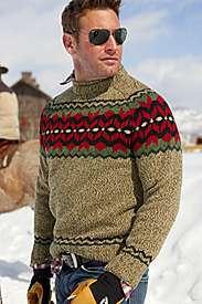Eddie Bauer   Sportsman Wool Ragg Crewneck Sweater